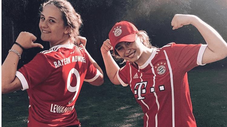 Piloto alemã posa com camisa e boné do Bayern - Reprodução/Instagram - Reprodução/Instagram