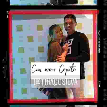 Thiago Silva e sua esposa Belle em aniversário de Cavani e Di María  - Reprodução/Instagram - Reprodução/Instagram