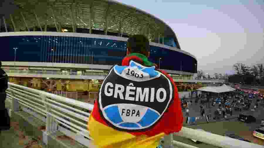 Arena do Grêmio ostenta invencibilidade de cinco anos no clássico Gre-Nal - Lucas Uebel/Grêmio