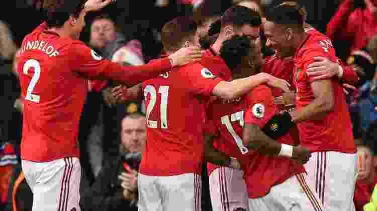 Manchester United comemora contra Manchester City - Oli Scarff/AFP - Oli Scarff/AFP