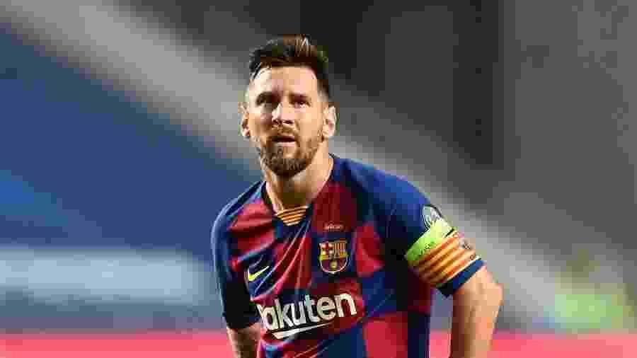 Lionel Messi, durante goleada do Bayern de Munique contra o Barcelona - UEFA/Handout via Xinhua