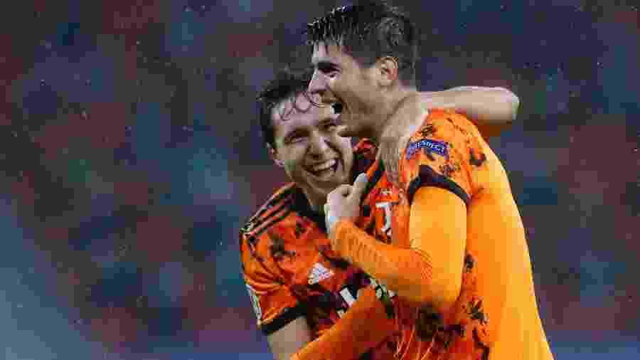 Morata comemora gol diante do Ferencváros - BERNADETT SZABO/REUTERS