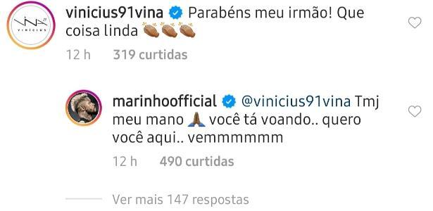Marinho 'pede' Vina, do Ceará, no Santos: 'Quero você aqui'