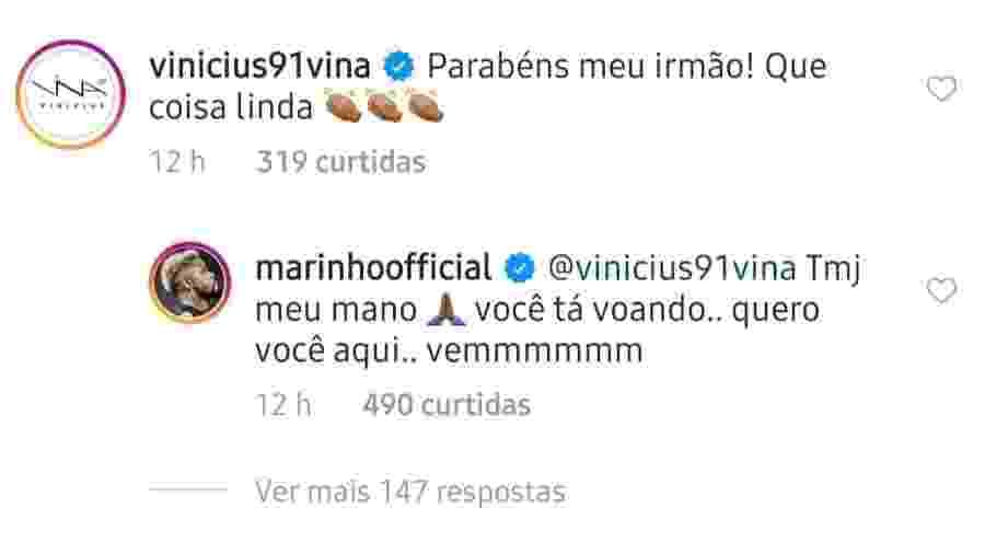 Marinho pede Vina, do Ceará, no Santos - Reprodução/Instagram
