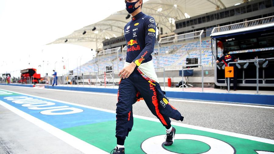 Alex Albon durante os treinos livres do GP do Bahrein - Mark Thompson/Getty Images