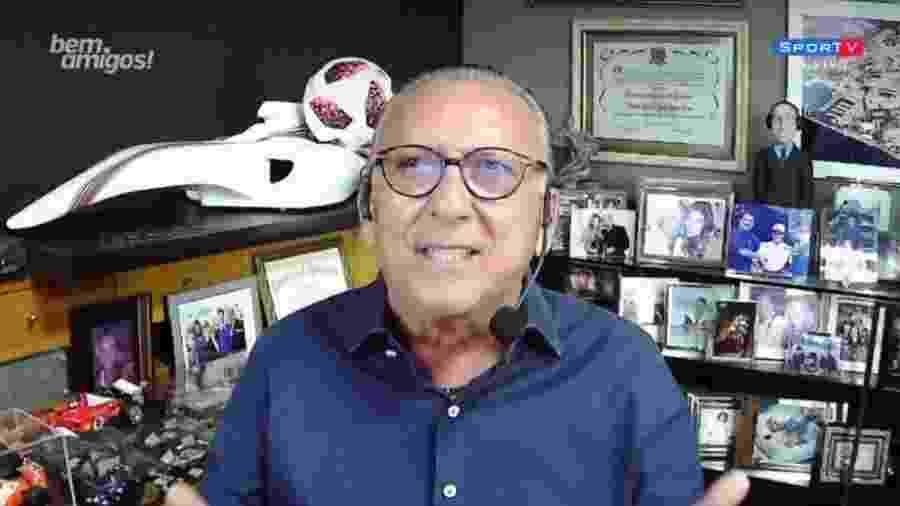 Galvão Bueno, narrador do grupo Globo - Reprodução/SporTV
