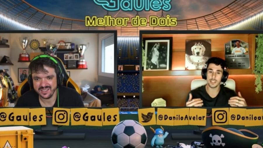 Danilo Avelar, do Corinthians, em live com Gaules na twitch - Reprodução