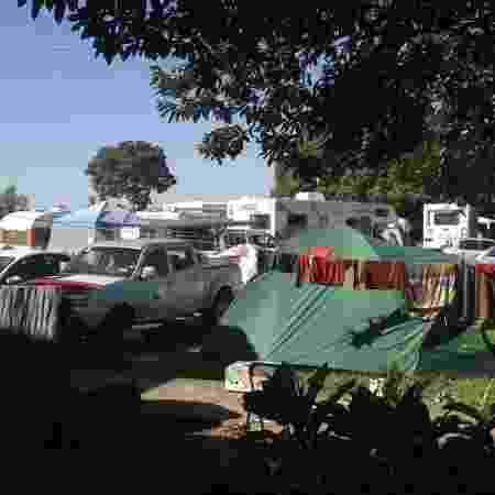 Centenas de carros e trailers ocupam local que serviu de acampamento para mais de 2 mil chilenos na Copa de 2014 - Arquivo Pessoal - Arquivo Pessoal