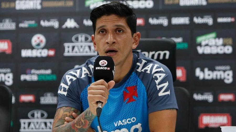 Cano, atacante do Vasco, em entrevista coletiva - Rafael Ribeiro/Vasco.com.br