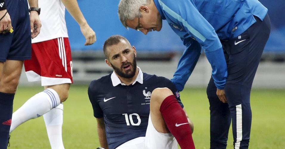 Benzema se lesiona em duelo pela França, válido pelas Eliminatórias para a Euro-2016