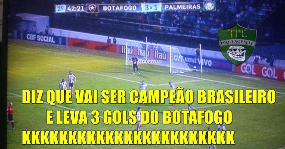 Torcedores tiram sarro de derrota do Palmeiras para o Botafogo