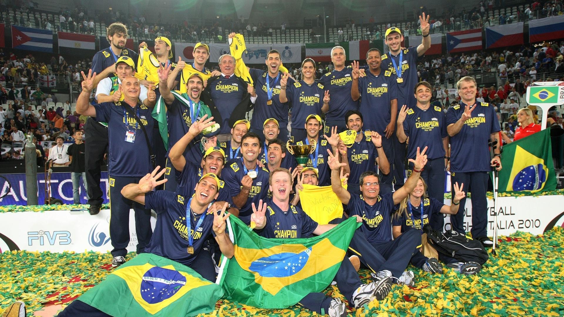 Seleção brasileira campeã mundial de vôlei em 2010