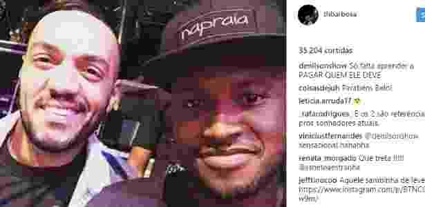 Denílson cobrou Belo em post de Thiaguinho no Instagram - Instagram - Instagram