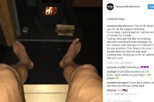 Ibrahimovic postou nas redes sociais mensagem de que não irá se aposentar