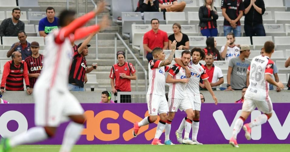 Mancuello abriu o placar para o Flamengo contra o Atlético-PR