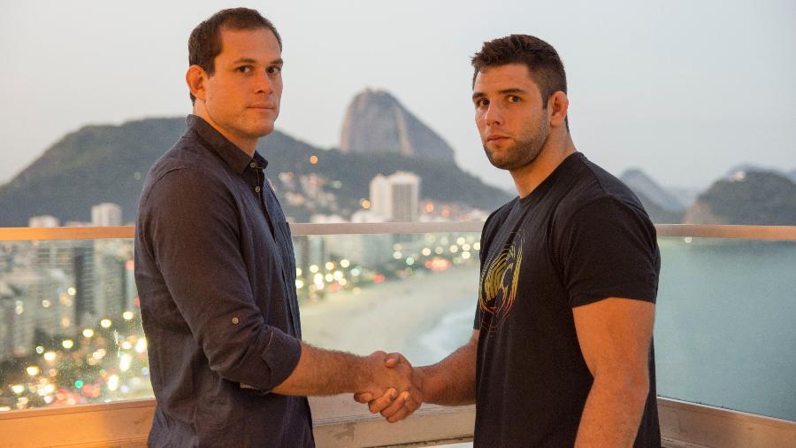 Roger Gracie (esq.) e Marcus Buchecha se enfrentam no Gracie Pro - Divulgação