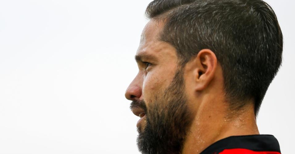 Diego, meia do Flamengo, em jogo contra o Corinthians