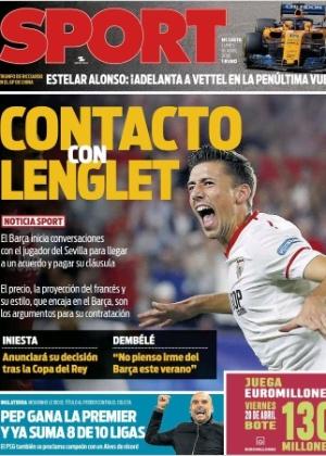 Clément Lenglet está na mira do Barça, segundo o Sport (foto); Real Madrid e clubes ingleses também teriam interesse