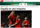 """Goleada da Espanha empolga, e jornais mandam recado ao mundo: """"Voltamos!"""" - reprodução/Marca"""