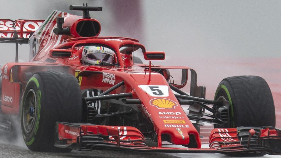 O alemão Sebastian Vettel nos treinos livres para o GP dos EUA de Fórmula 1 - Jerome Miron-USA TODAY Sports
