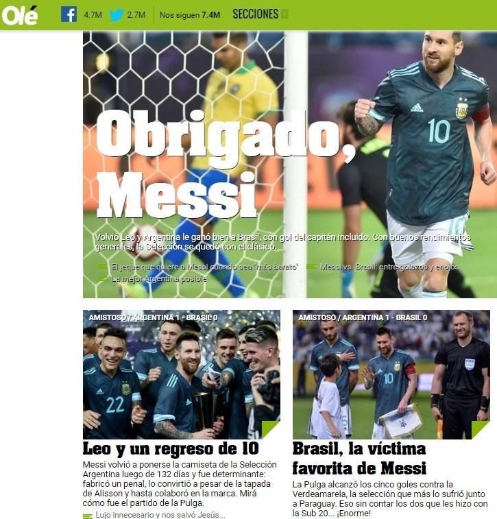 Jornal argentino