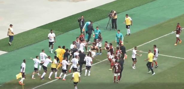 Flamengo x Corinthians no ES | Semi do Brasileiro Sub-20 termina em pancadaria