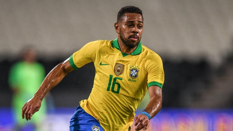 Lateral-esquerdo deu suas duas primeiras assistências pela seleção brasileira no amistoso de hoje - Pedro Martins/MoWA Press