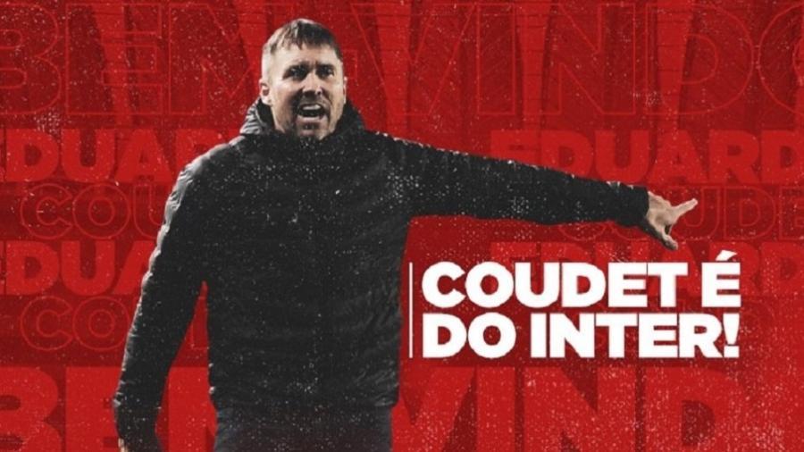 Eduardo Coudet é anunciado como técnico do Internacional por dois anos - Divulgação/Inter