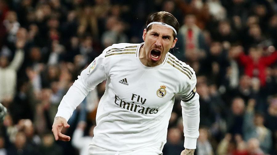 Sergio Ramos tem liderado a equipe do Real Madrid na reta final do Campeonato Espanhol e enfrenta o Alavés pela 35ª rodada - Sergio Perez/Reuters
