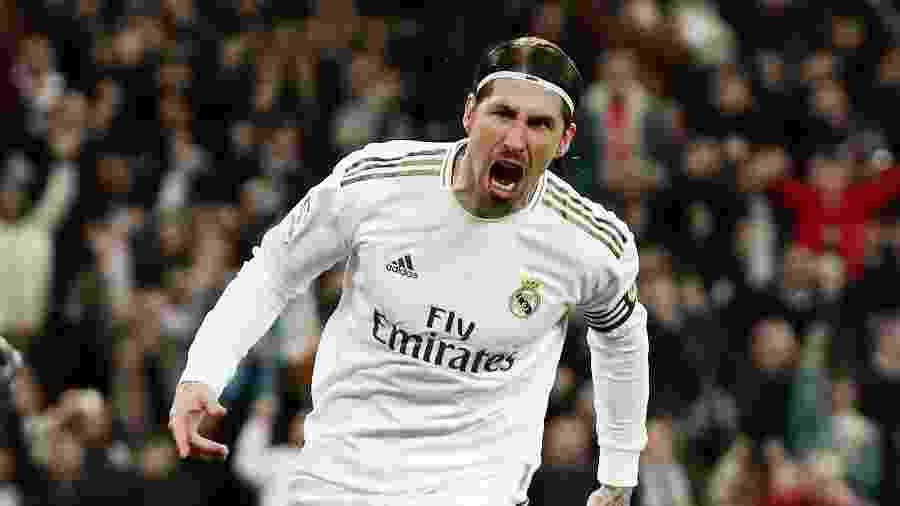 Sergio Ramos em campo pelo Real Madrid   - Sergio Perez/Reuters
