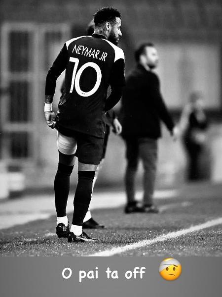 Neymar Jr lamenta lesão - Reprodução/Instagram