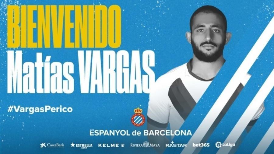 Espanyol anuncia a contratação de Matias Vargas - Reprodução