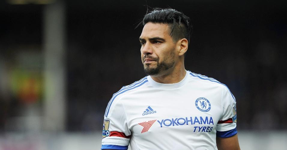 Falcao García participa de partida pelo Chelsea, contra o Everton, pelo Campeonato Inglês