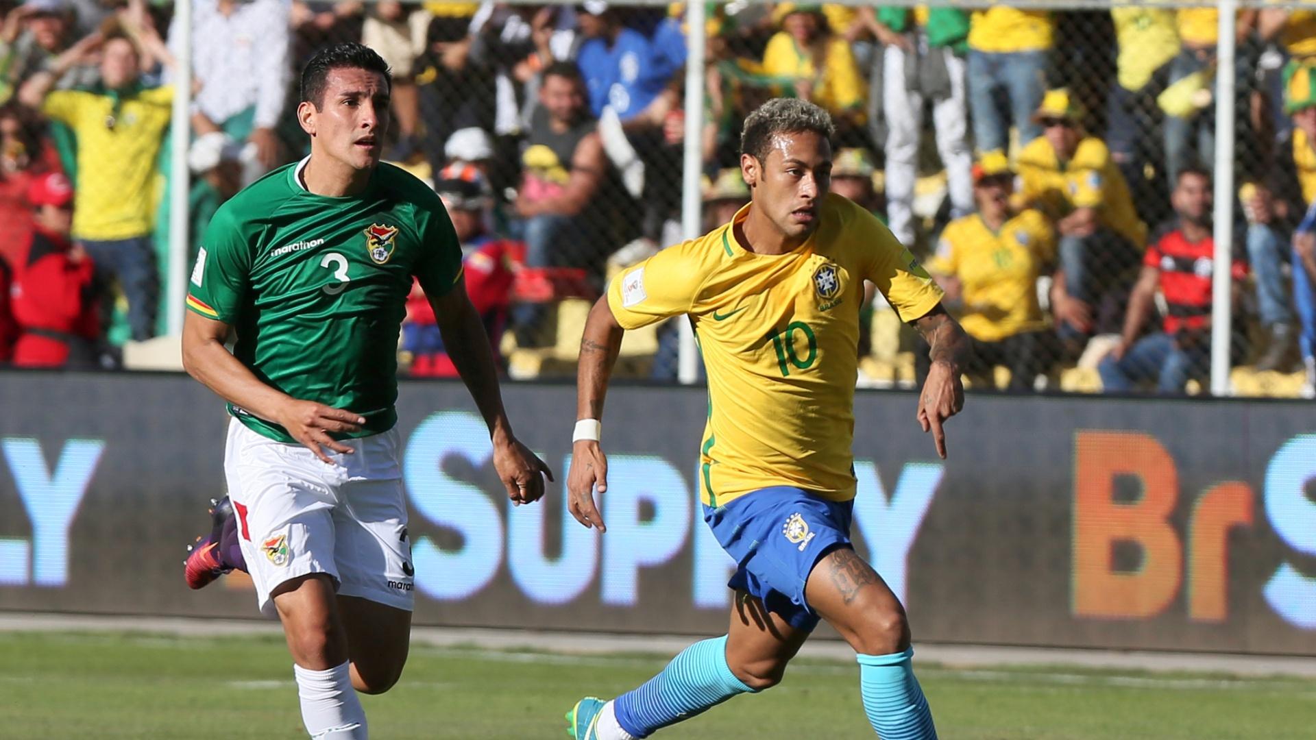 Neymar tenta puxar contra-ataque para o Brasil contra a Bolívia