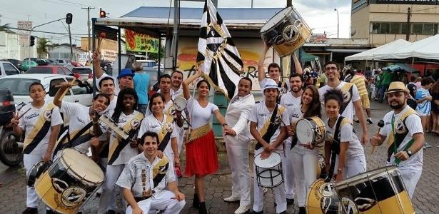 Componentes do G.R.E.S Gigante da Colina, de Brasília: homenagem ao Vasco - Divulgação / Facebook GRES Gigante da Colina
