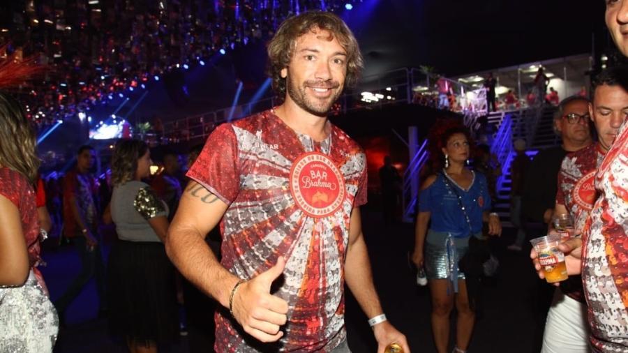 Diego Lugano no camarote Bar Brahma no 1º dia de Carnaval de São Paulo - Claudio Augusto/Brazil Neews
