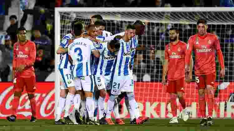 Jonathan Silva abriu o placar para o Leganés no fim do primeiro tempo - Pierre-Philippe Marcou/AFP