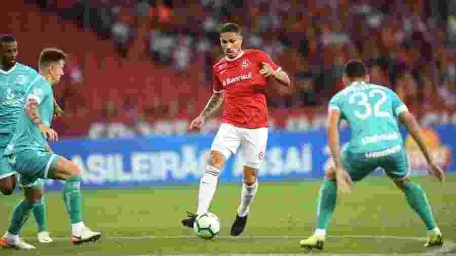 Guerrero, durante partida entre Internacional e Goiás - Ricardo Duarte/Internacional