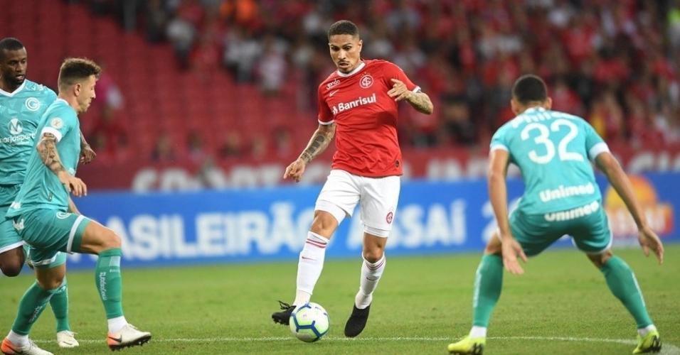 Guerrero, durante partida entre Internacional e Goiás
