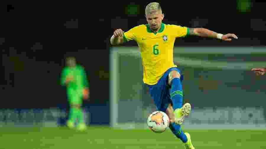 Caio Henrique disputa jogo pela seleção brasileira sub-23 no Pré-Olímpico - Lucas Figueiredo/CBF