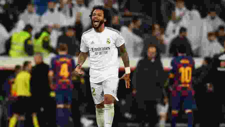 Marcelo disse que preferiu permanecer no Real Madrid a ser emprestado  - GABRIEL BOUYS/AFP