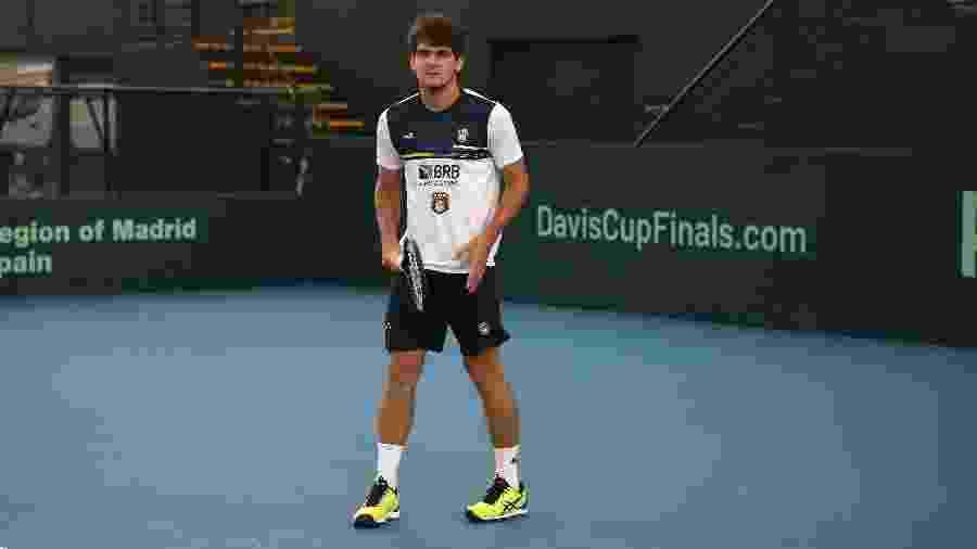O tenista brasileiro Thiago Wild foi infectado pelo Coronavírus e está em isolamento - Lucas Balduíno/CBT