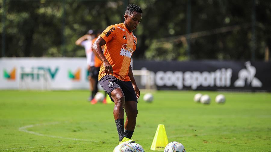 Juan Cazares, meia-atacante do Atlético-MG, foi oferecido ao São Paulo no mercado da bola - Pedro Souza / Atlético-MG / Divulgação