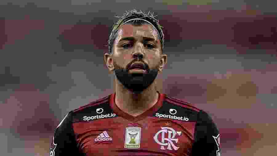 Gabriel Barbosa, o Gabigol, em ação durante Flamengo x Atlético-GO - Thiago Ribeiro/AGIF