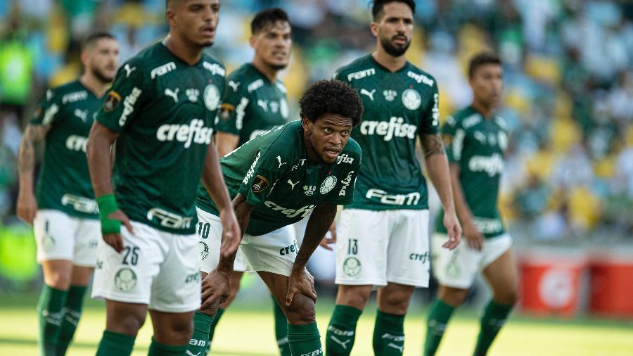 Jogadores do Palmeiras em campo na final da Libertadores 2020, no Maracanã - Jorge Rodrigues/AGIF