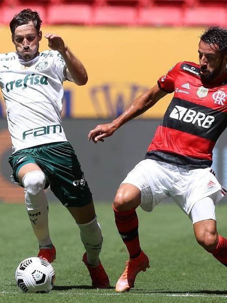 Viña, do Palmeiras, e Isla, do Flamengo, na final da Supercopa do Brasil 2021 - Cesar Greco / Palmeiras