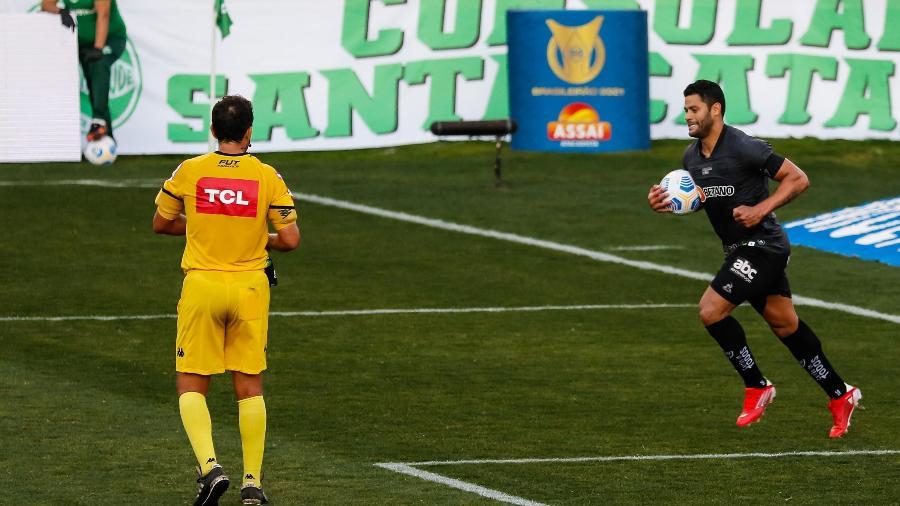 Hulk comemora gol do Atlético-MG contra o Juventude pelo Brasileirão - LUCA ERBES/FUTURA PRESS/FUTURA PRESS/ESTADÃO CONTEÚDO
