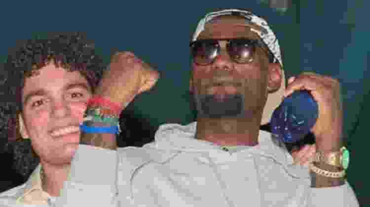 LeBron James ao lado de Anderson Varejão em show de Naldo Benny no Rio de Janeiro, em  - Divulgação - Divulgação