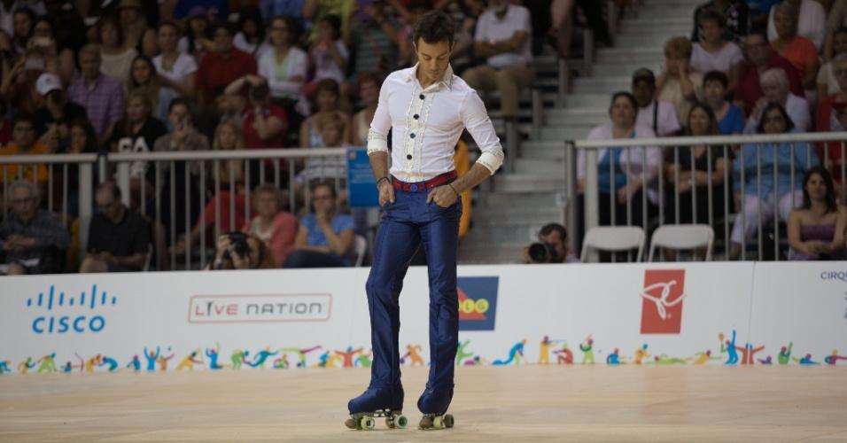 Marcel Sturmer é ouro na patinação artística no Pan de Toronto