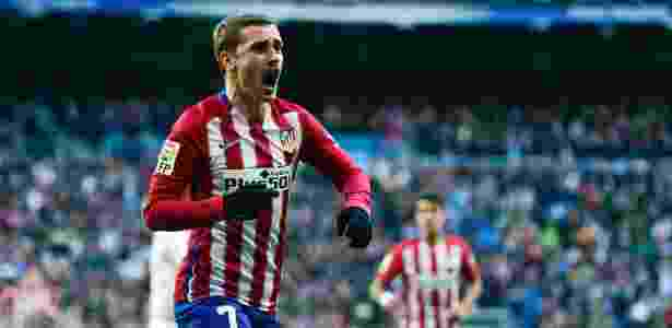 Griezmann comemora gol contra o Real Madrid no Bernabéu - Pierre-Philippe Marcou/AFP - Pierre-Philippe Marcou/AFP